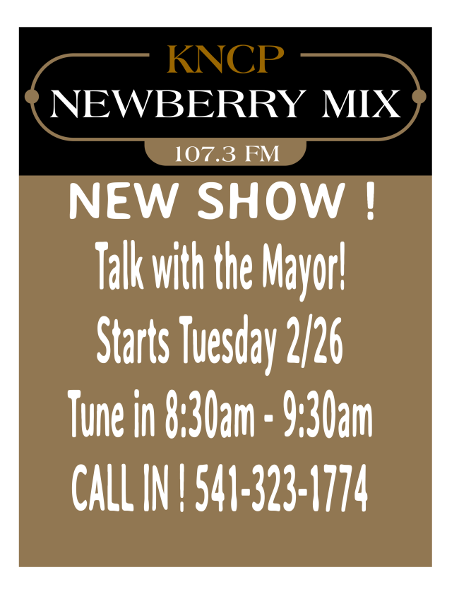 Talk with the Mayor on KNCP 107.3 FM every Tuesday